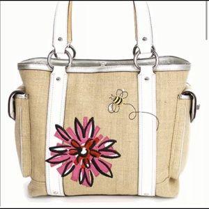Coach limited edition straw shoulder bag